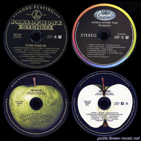 ザ・ビートルズ・ボックスのCD盤面